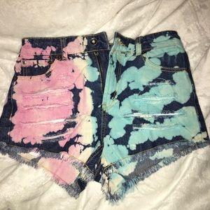 Pants - High waisted tie dye shorts BNWT